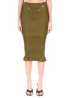 Women's Givenchy Chain Detail Rib Knit Pencil Skirt