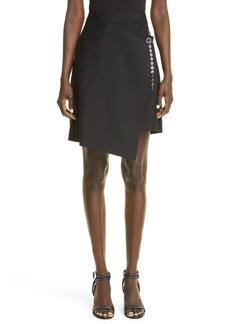 Women's Givenchy G-Chain Asymmetrical Faux Wrap Skirt