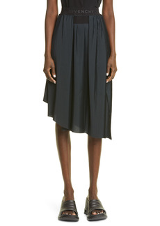 Women's Givenchy Pleated Asymmetrical Crepe Skirt