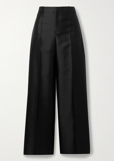 Givenchy Wool And Silk-blend Satin Straight-leg Pants