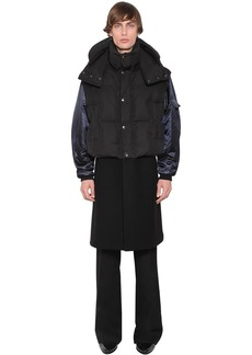 Givenchy Wool Coat W/ Down Bomber Jacket