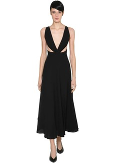 Givenchy Wool Crepe Midi Dress