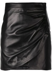 Givenchy wrap front mini skirt