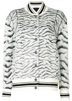 Givenchy zebra pattern bomber jacket