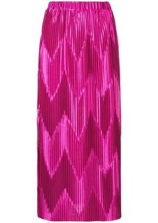 Givenchy zig-zag pleated skirt
