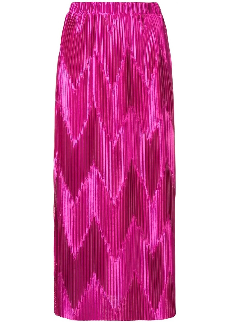 Givenchy zig-zag pleated skirt
