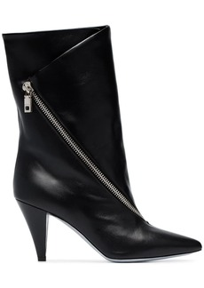 Givenchy black Zip-detail 80 leather ankle boots