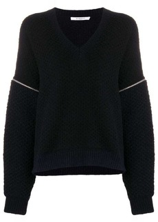 Givenchy zip-detail oversized sweater