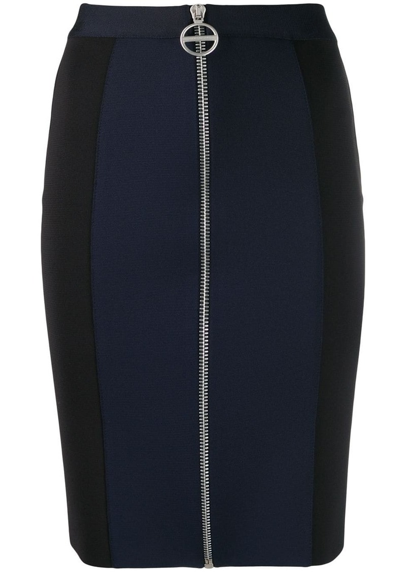 Givenchy zip front panelled mini skirt