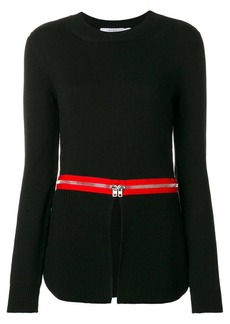 Givenchy zip trim jumper
