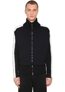 Givenchy Zip Up Nylon Blend Knit Jacket