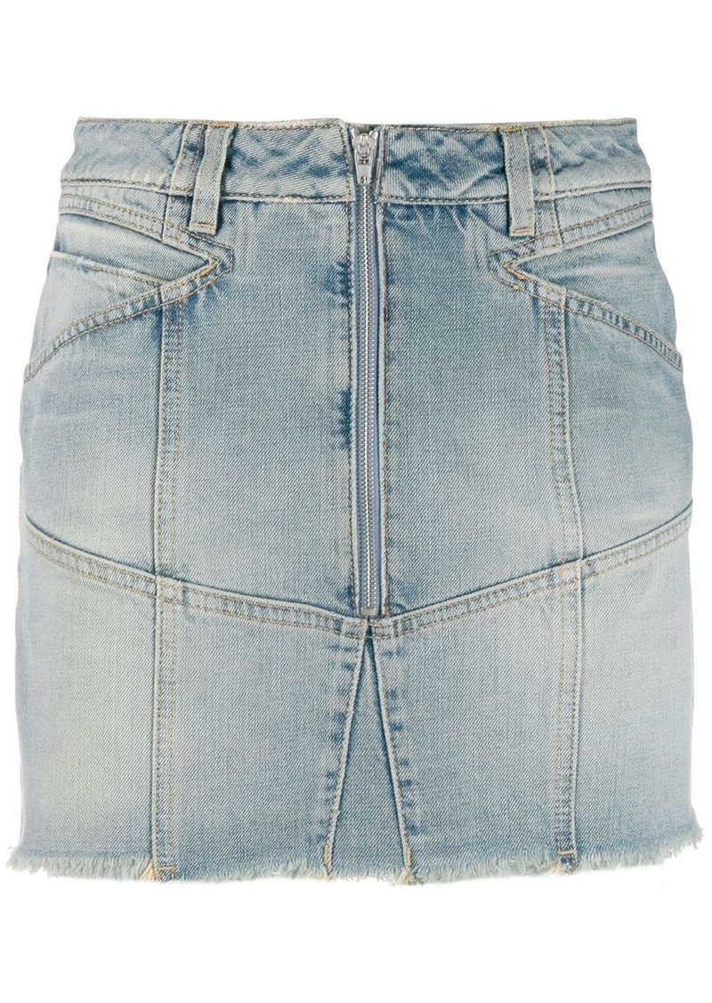 Givenchy zipped denim skirt