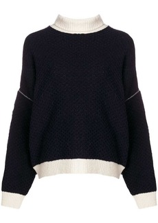 Givenchy zipped sleeves turtleneck jumper