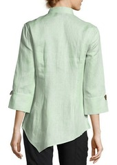 Go Silk Asymmetric Linen Blouse