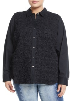 Go Silk Button-Down Pucker Shirt