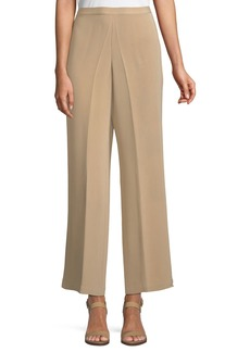 Classic Silk Wide-Leg Pants