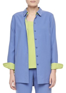 Go Silk Colorblocked Silk Shirt