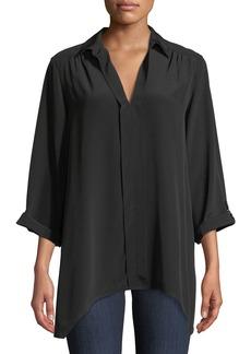 Go Silk Dolman-Sleeve Silk Tunic