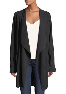 Go Silk Go Over Silk Open-Front Jacket