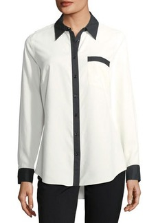 Go Silk CLASSIC SILK SHIRT WITH BLK