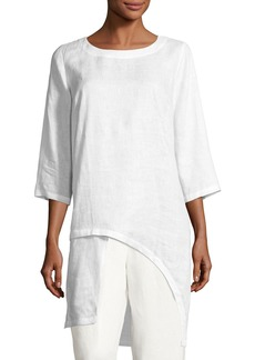 Go Silk Linen Drama Top