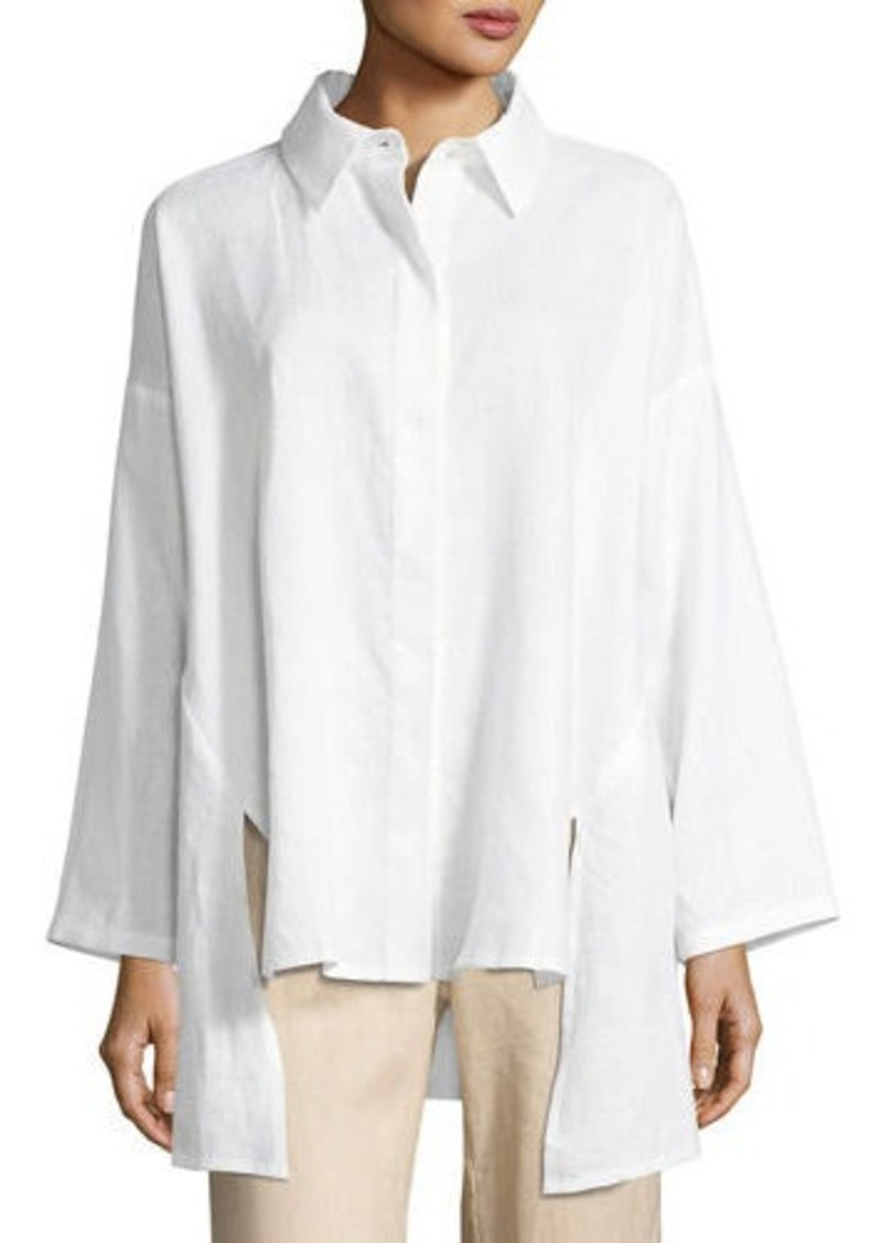 Go Silk Linen Oversized Shirt