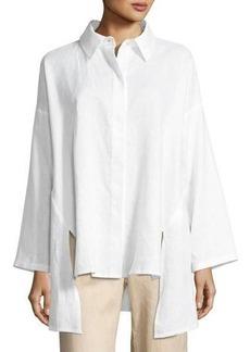 Go Silk Linen Oversized Shirt