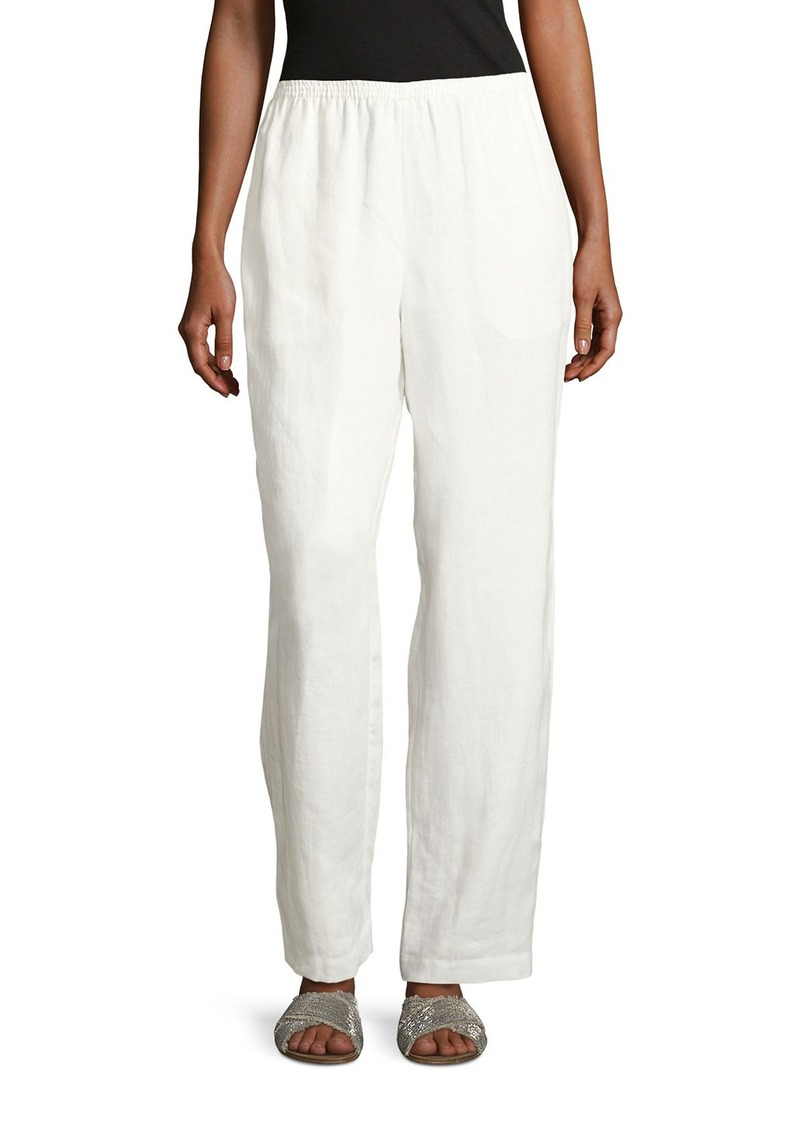 Go Silk Linen Wide-Leg Pants