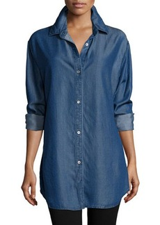 Go Silk Long-Sleeve Button-Front Denim Shirt