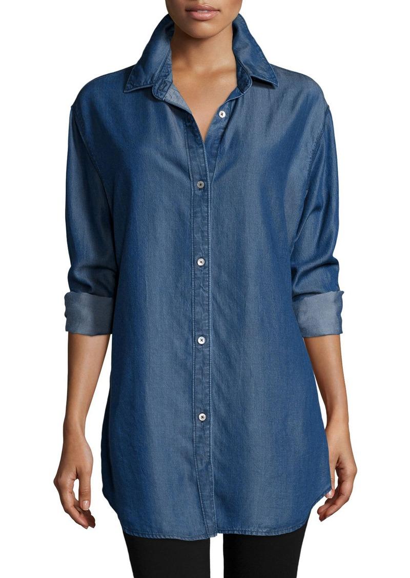 Go Silk Long-Sleeve Button-Front Denim Shirt