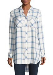 Go Silk Long-Sleeve Button-Front Plaid Shirt