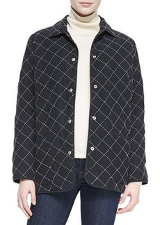 Go Silk Quilted Silk Barn Jacket