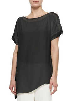 Go Silk Silk Boat-Neck Easy Tunic