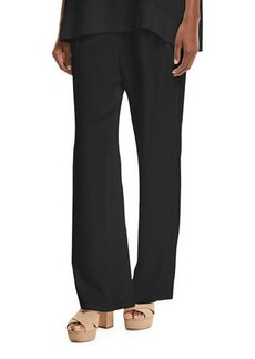 Go Silk Silk Crepe Easy Contrast-Trim Pants