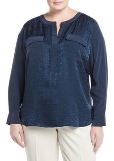 Go Silk Jacquard Two-Pocket Tunic