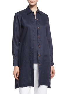 Go Silk Long-Sleeve Linen Duster