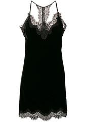 Gold Hawk lace and velvet slip-on dress