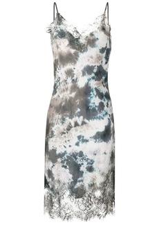 Gold Hawk abstract print slip dress