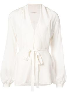 Gold Hawk belted blouse