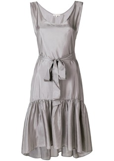 Gold Hawk belted lace dress