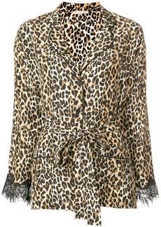 Gold Hawk Coco leopard-print pyjama shirt