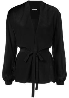 Gold Hawk belted blouse - Black