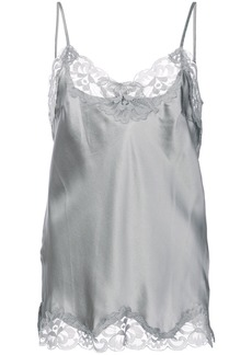 Gold Hawk lace inserts top - Grey