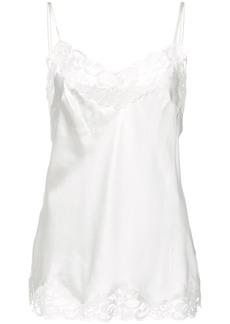 Gold Hawk lace inserts top - White