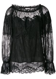 Gold Hawk longsleeved lace blouse - Black