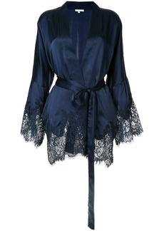Gold Hawk scalloped lace jacket - Blue
