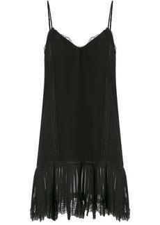 Gold Hawk spaghetti strap lace dress