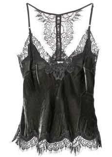 Gold Hawk lace-detail camisole top