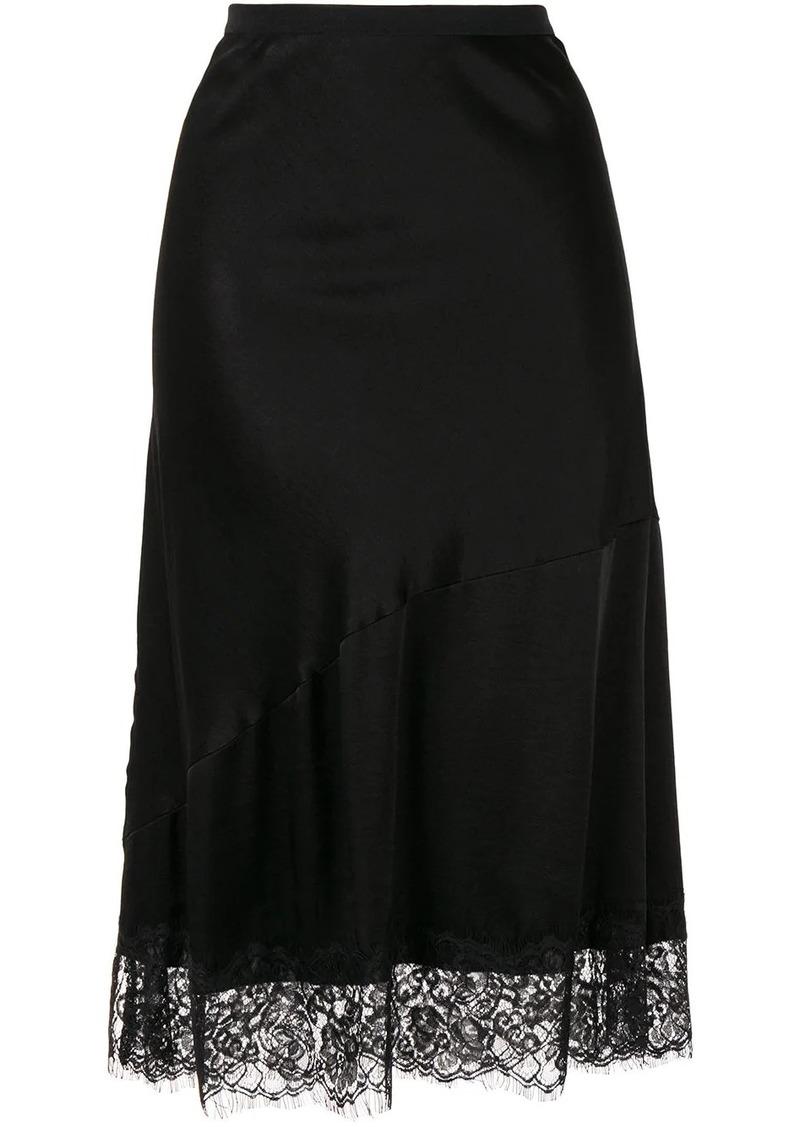 Gold Hawk lace detail skirt