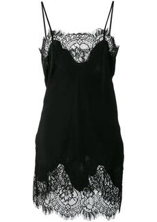 Gold Hawk lace detail slip dress